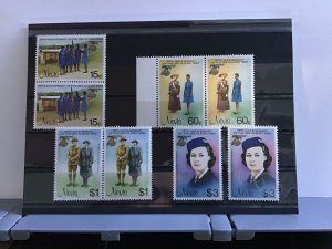Nevis   75th Anniversary of the Girl Guides mint never hinged stamps R27735