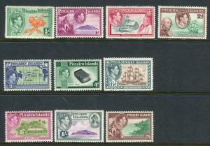 PITCAIRN ISLANDS-1940-51  A lightly mounted mint set to 2/6 Sg 1-8