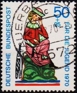 Germany. 1970 50pf+25pf S.G.1515 Fine Used