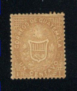 Guatemala #1    Mint   1871 PD