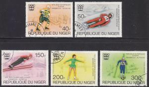 Niger 347-349+C266-C267 Hinged CTO 1976 XII Winter Olympic Games