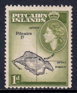 Pitcairn Islands - Scott #21 - MLH - Toning spot - SCV $5.00