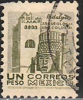 MEXICO 882, $1Peso 1950 DEF 2nd ISSUE Perf 11. USED, F-VF. (1409)