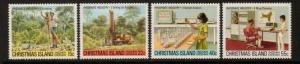 CHRISTMAS ISLAND SG122/5 1980 PHOSPHATE INDUSTRY MNH