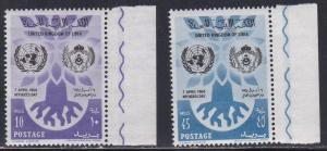 Libya # 187-188, Refugee Year, NH, Half Cat