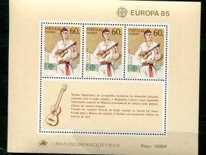 Portugal  Madeira 1985  Europa mini sheet   Mint VF NH