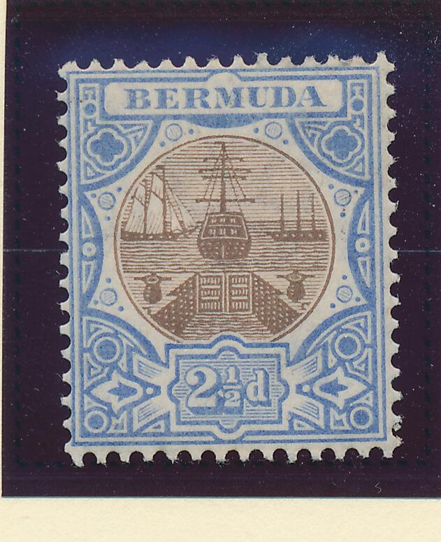Bermuda Stamp Scott #37, Mint Hinged