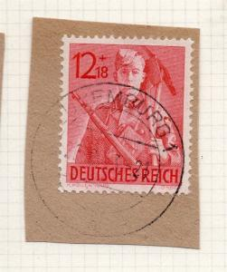 1944-45 GERMANY used in LUXEMBOURG Fine Used 12p. Postmark Piece 241797