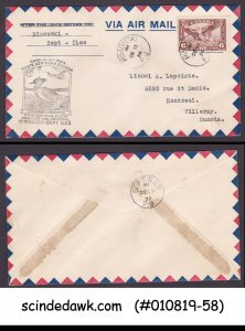 CANADA - 1936 CANADA AIR MAIL RIMOUSKI  to SEPT ILES - FFC