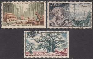 French West Africa C18-C20 Used CV $4.75