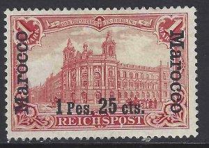 German Morocco 1903 SC 16D Mint SCV$ 350.00