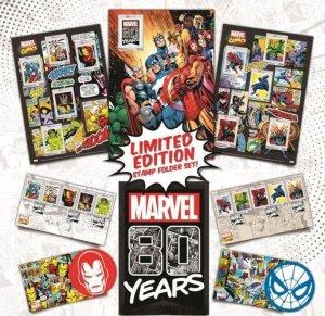 Malaysia Marvel 80 Years Super Heroes Folder Set