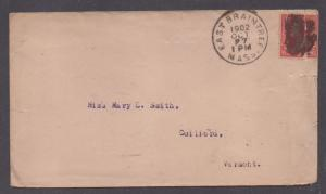 **US 20th Century Cover, East Braintree, MA, 10/27/1902 CDS, DPO4, Contents