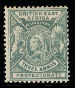 BRITISH EAST AFRICA SG69 1896 3a GREY MTD MINT