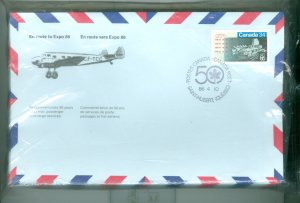 AIR CANADA RARE 50th ANNIVERSARY SOUVENIR PACKAGE OF 50 DIFFERENT COVERS
