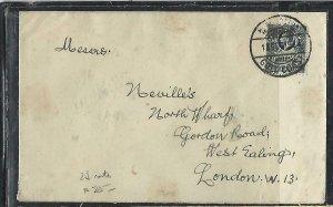 GOLD COAST (P2708B)  1931    KGV 2D     TO ENGLAND
