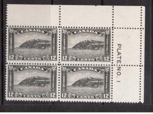 Canada #174 NH Mint Plate #1 UR Block
