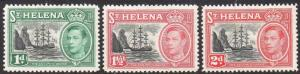 St Helena 1949 Set of 3 MH