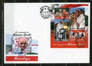 MOZAMBIQUE  2019  150th BIRTH OF MAHATMA GANDHI SHEET FIRST DAY COVER
