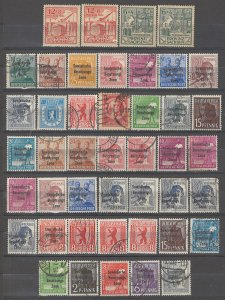 COLLECTION LOT # 4937 GERMANY OCCUPIED 44 STAMPS 1948+ CLEARANCE