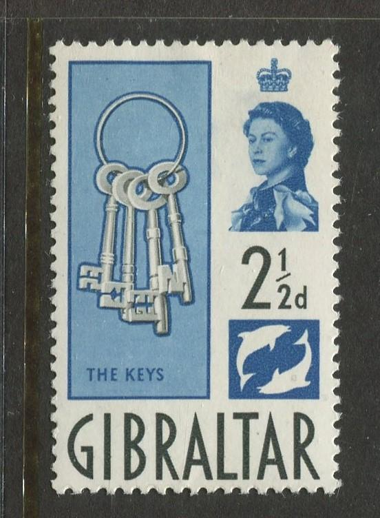 Gibraltar - Scott 150 - QEII Definitive Issue -1960- MH - Single 2.1/2d Stamp