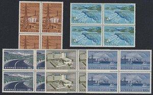 CYPRUS 1967 First Development Programme set MNH blocks of 4................B113a