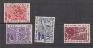 INDIA, 1948 Inauguration of Republic set of 4, used.