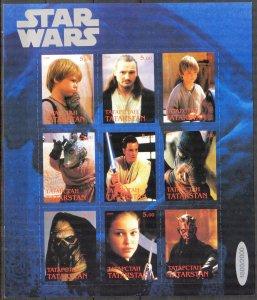 Tatarstan 1999 Cinema  Star Wars  (5) Sheet Digital Perforation MNH Cinderella
