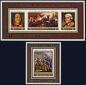 Ajman Michel 1028-1031 deluxe sheets, MNH, Proposed Philadelphia World's Fair