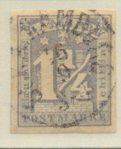 Hamburg (German State) Stamp Scott #9, Unused, Good Margins & Centering - Fre...