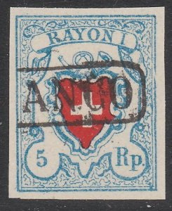 SWITZERLAND  An old forgery of a classic stamp - ...........................B308