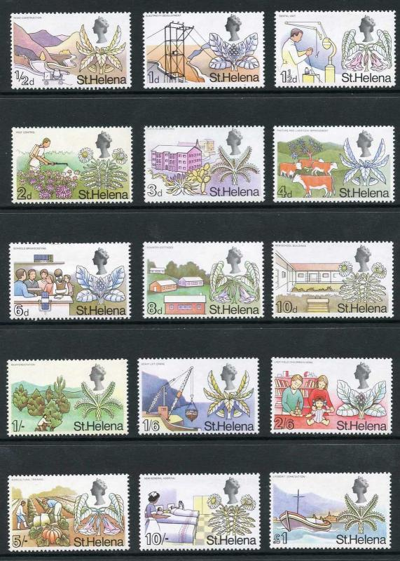 St Helena SG226/40 1968 set of 15 U/M