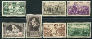France Lot 6615 RF Postes YVERT 459-460 MNH 456-469 MNH semi-postal