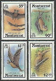 HERRICKSTAMP MONTSERRAT Sc.# 667-70 Bats
