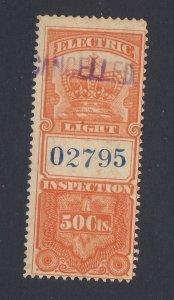 Canada Revenue Electric Light Stamp #FE2-50c Used Fine Guide Value = $40.00