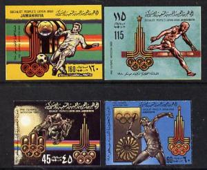 Libya 1979 Pre Olympics (1980 Moscow) imperf set of 4 wit...