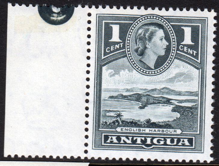 Antigua QEII 1953 1c Slate-Grey SG121 Mint Never Hinged MNH UMM
