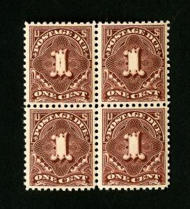 US Stamps # J61B XJ98 Superb Rare Block 4 NH