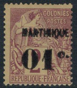 Martinique #9*  CV $4.75