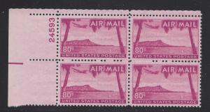 C46  80c AIR MAIL - DIAMOND HEAD - PB# 24593 UL MNH - CV:* $47.50 - LOT 350