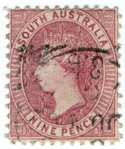 (I.B) Australia Postal : South Australia 9d (SG 124)