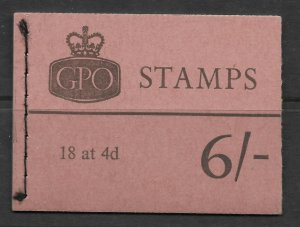 Sg Q27p 6/- Wildings GPO booklet with all panes perfect UNMOUNTED MINT/MNH