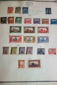 Tunisia Early Mint Used Stamp Collection on Specialized Pages