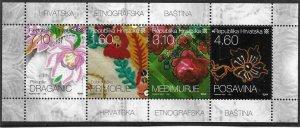 2010    CROATIA  -  SG.  1013 / 1016  -  EMBROIDERY -  MNH