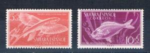 Spanish Sahara B27-28 MNH set Fish 1953 (S1149)