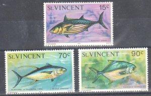 ST. VINCENT Scott 472  to 474 Fish Mint VF NH