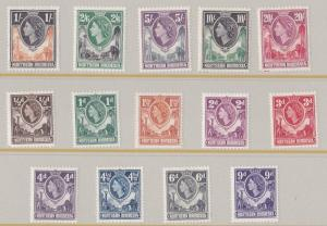 NORTHERN RHODESIA  1953  SET OF 14  MH
