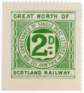 (I.B) Great North of Scotland Railway : Letter Stamp 2d
