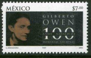 MEXICO 2352, Gilberto Owen, Poet, Centenary of his Birth. MINT, NH. VF.