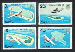 Tuvalu Airplanes Internal Service 4v 1979 MNH SG#127-130